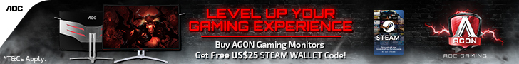 AOC AGON STEAM PROMO